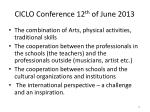 ciclo conference 12 th of june 201313