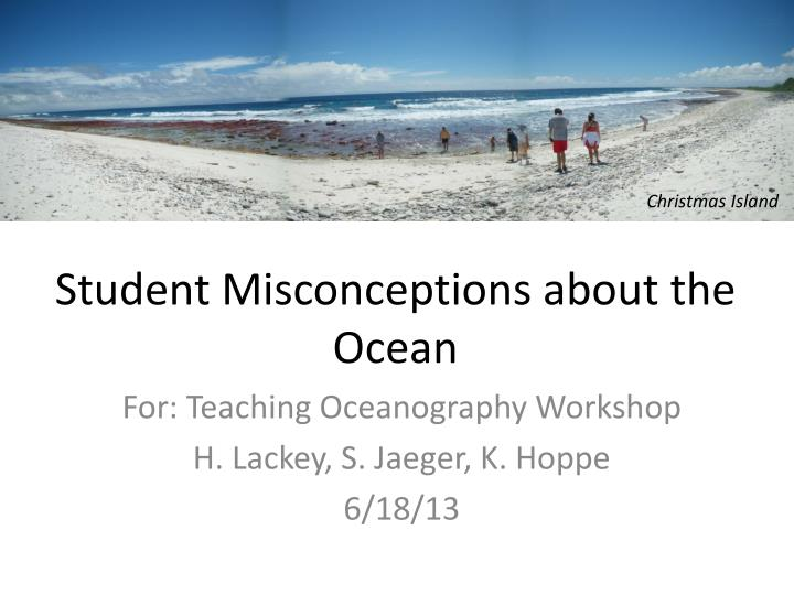student misconceptions about the ocean n.
