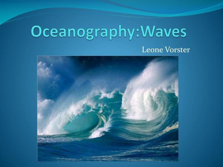 oceanography waves n.