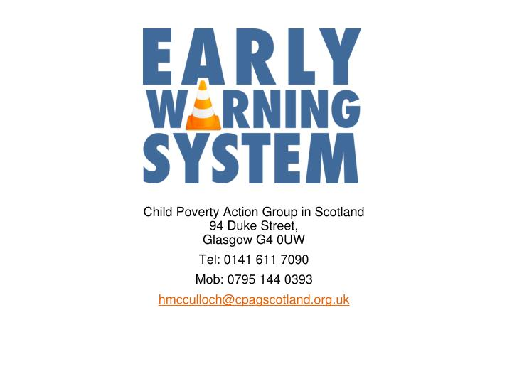 Child Poverty Action Group in