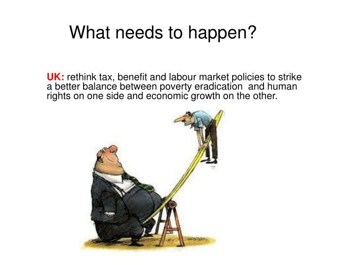 What needs to happen?