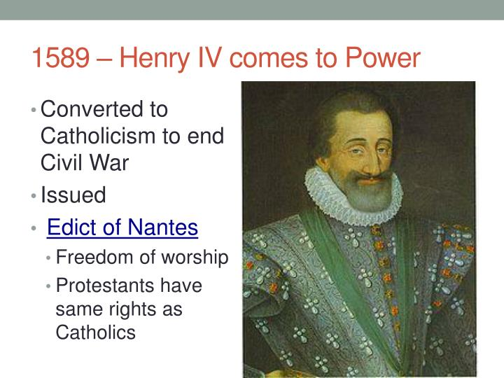 1589 henry iv comes to power
