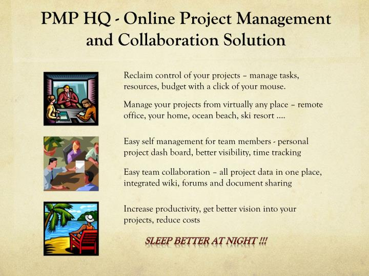 Pmp hq online project management and collaboration solution