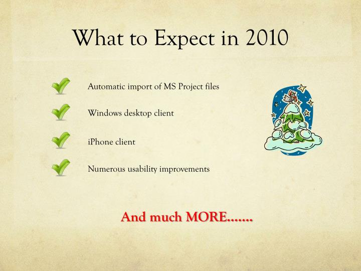 What to Expect in 2010