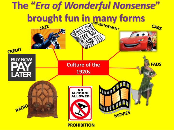 The era of wonderful nonsense brought fun in many forms