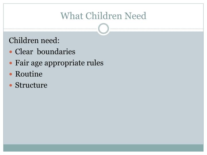 What children need
