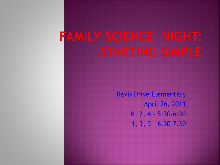 Family Science  Night: