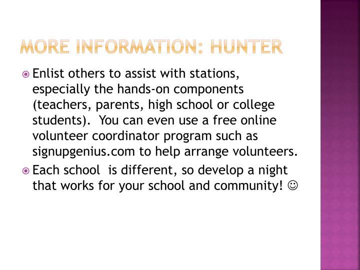 More information: hunter