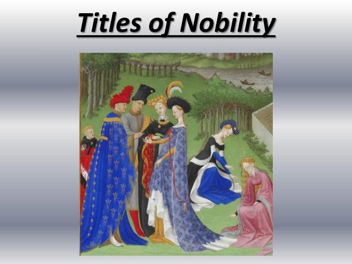titles of nobility n.