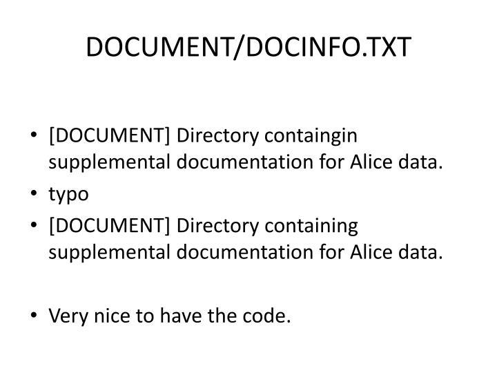 DOCUMENT/DOCINFO.TXT