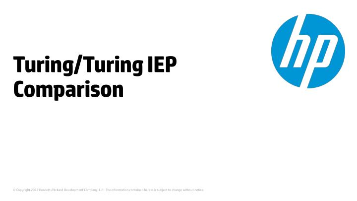 turing turing iep comparison n.