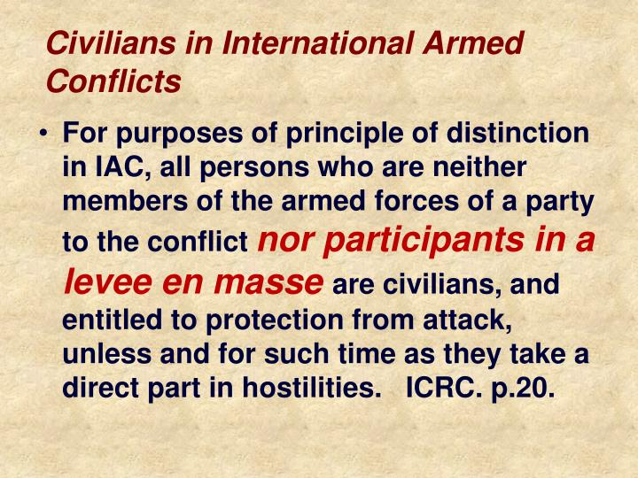 Civilians in International Armed Conflicts