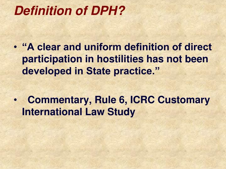 Definition of DPH?