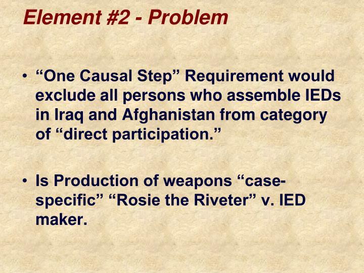 Element #2 - Problem