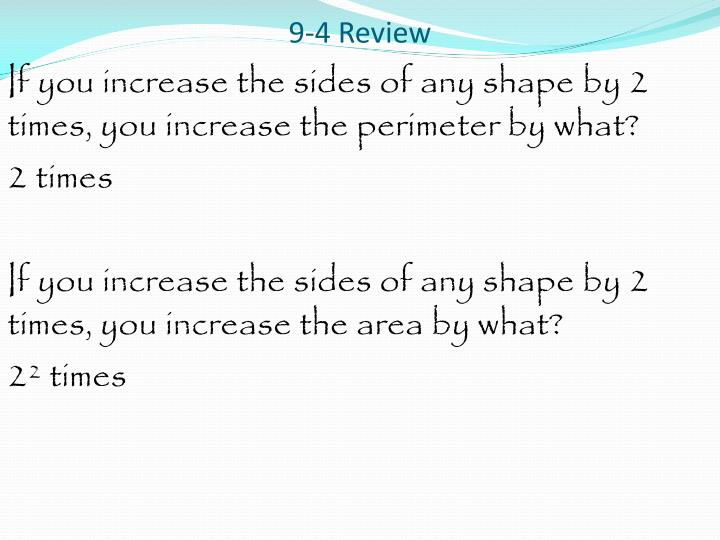 9-4 Review