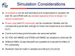 simulation considerations