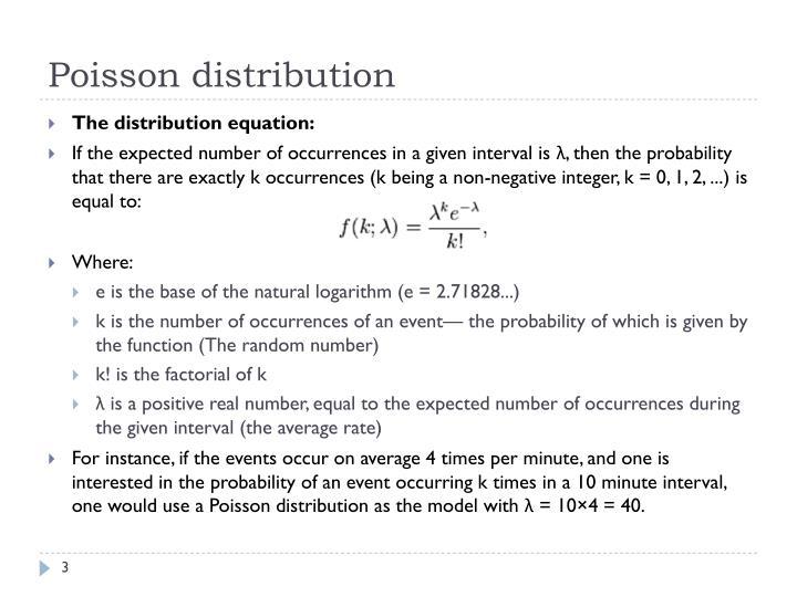 Poisson distribution1