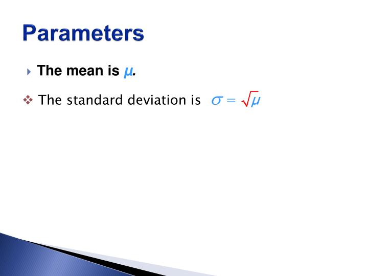The standard deviation is