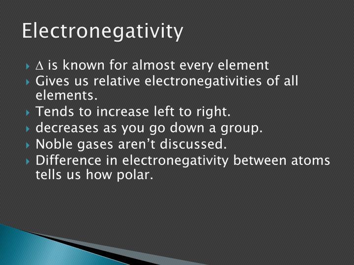 Electronegativity
