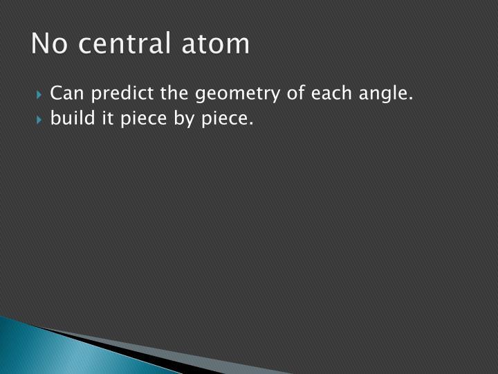No central atom