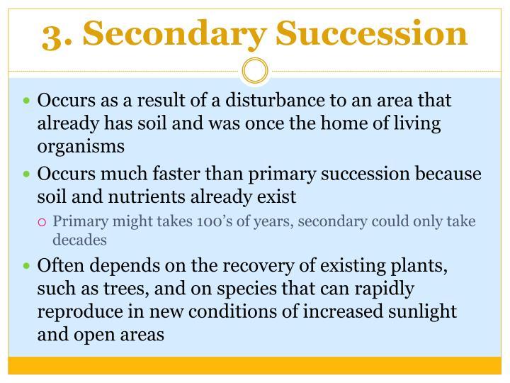 3. Secondary Succession