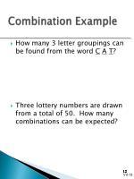 combination example
