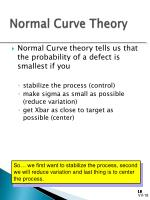 normal curve theory