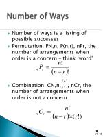 number of ways