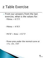 z table exercise