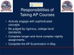 responsibilities of taking ap courses