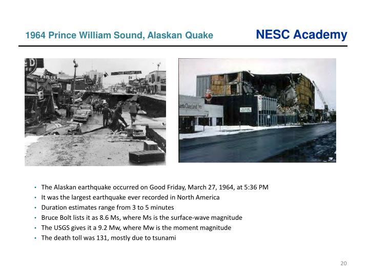 1964 Prince William Sound, Alaskan