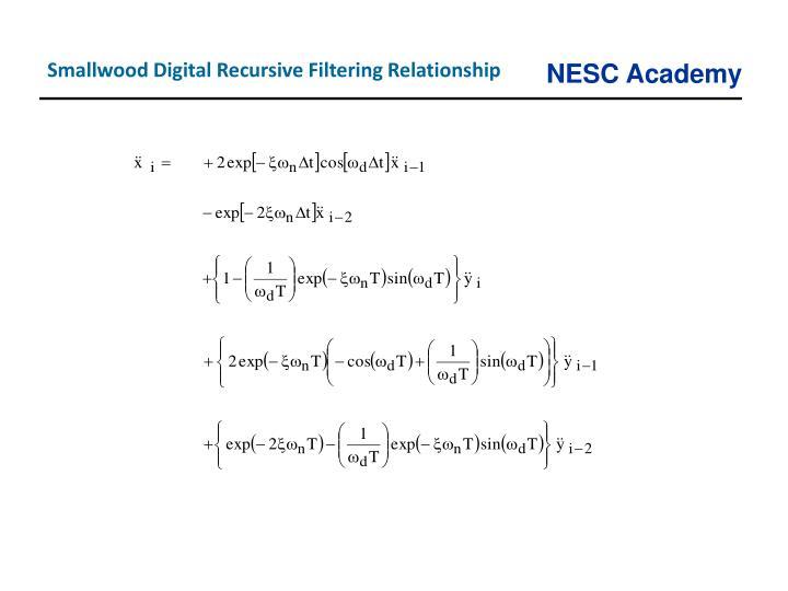 Smallwood Digital Recursive Filtering Relationship