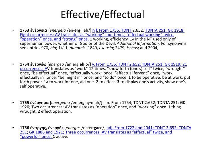 Effective effectual