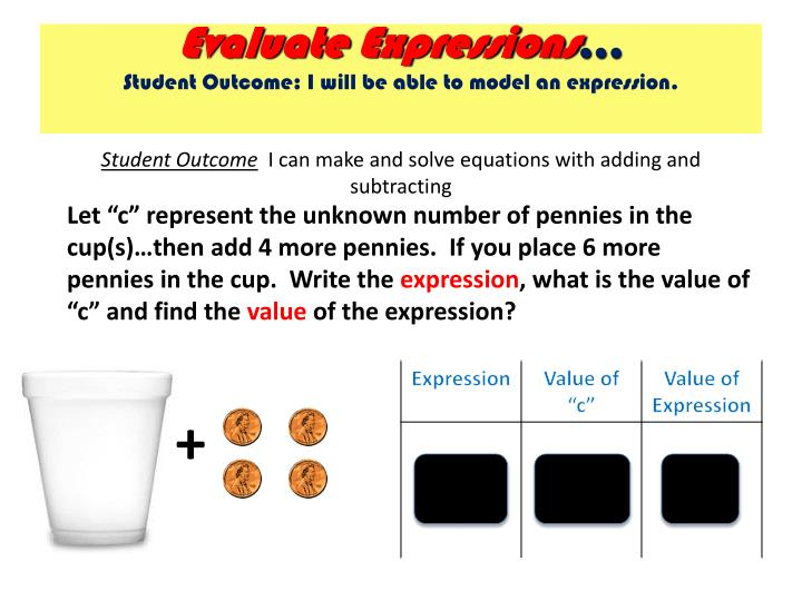 Evaluate Expressions
