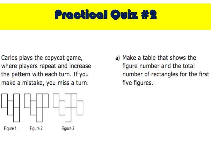 Practical Quiz #2
