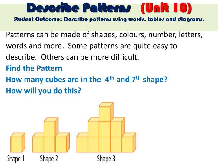 Describe Patterns