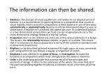 the information can then be shared