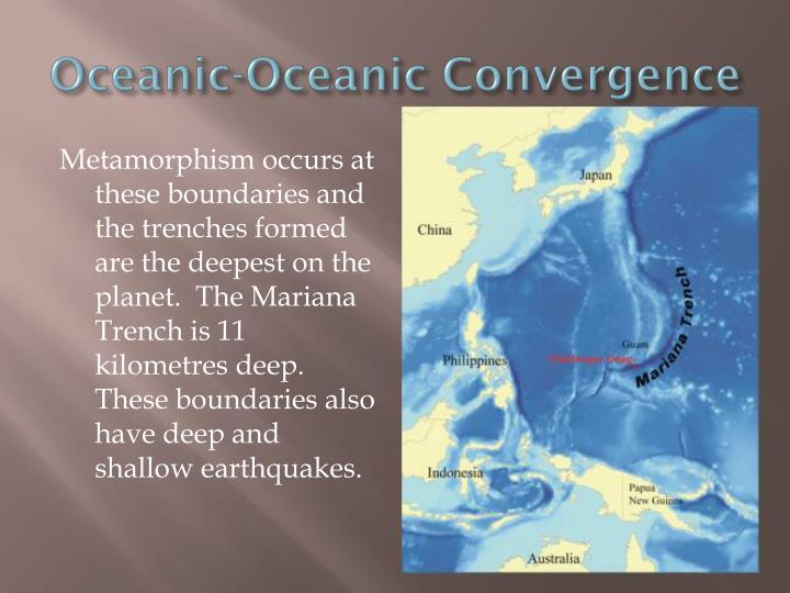 Oceanic-Oceanic Convergence