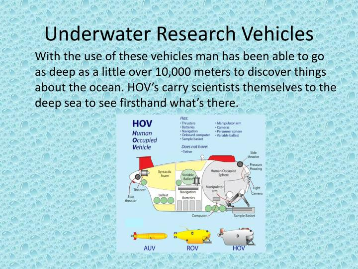 Underwater Research Vehicles