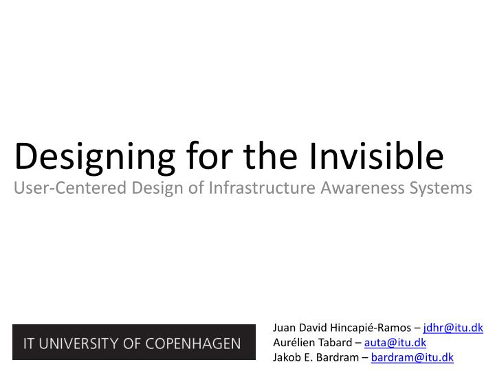 designing for the invisible n.