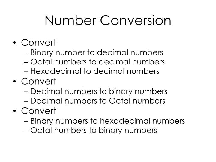 Number conversion