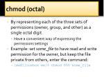 c hmod octal