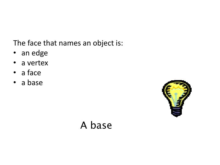 The face that names an object is