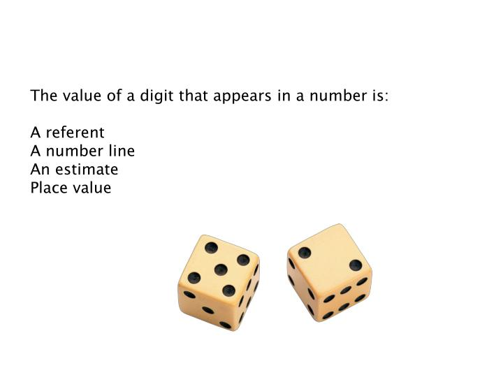 The value of a digit that appears in a number is: