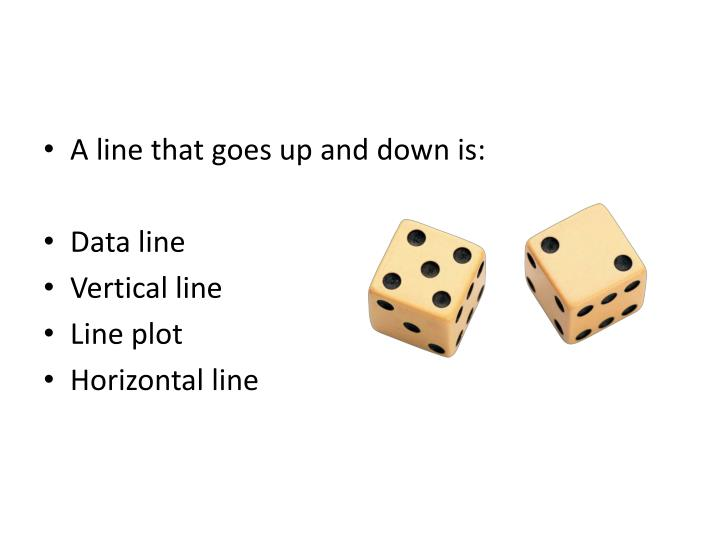 A line that goes up and down is:
