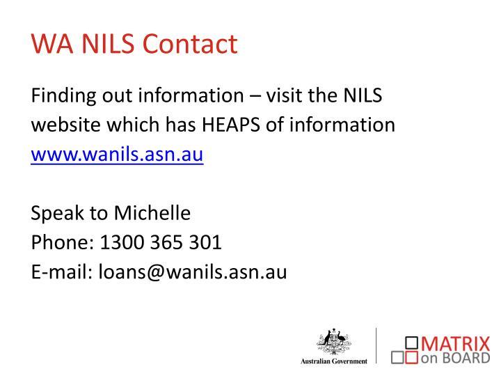 WA NILS Contact