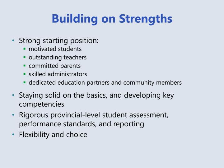 Building on Strengths