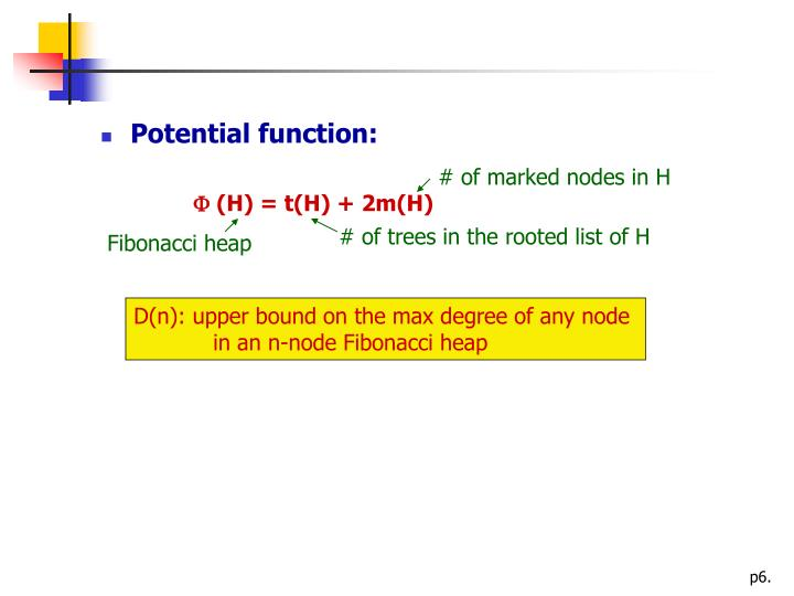 Potential function:
