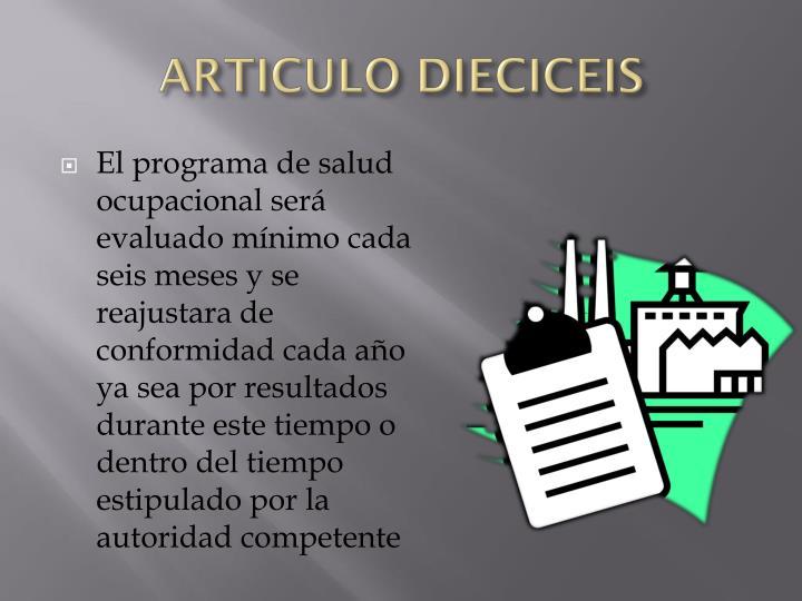 ARTICULO DIECICEIS