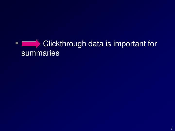 Clickthrough